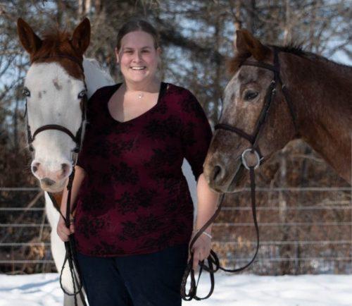 Morgan and horses